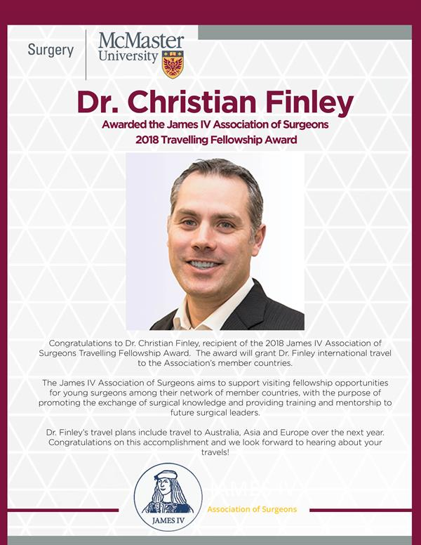 Dr. Finley - JamesIV Travel Fellowship