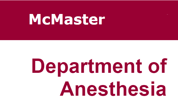 McMaster Department of Anesthesia